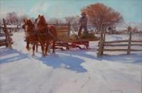 Bright Wyoming Winter / Grant Redden, CA / 20.00x30.00 / $9000.00/ Sold