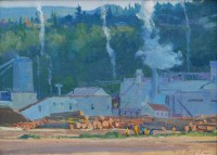 Sawmills at Hood River / G. Russell Case / 12.00x16.00 / $3200.00