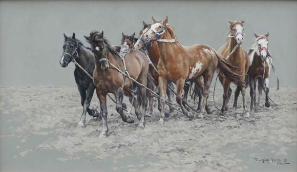 Wild Horses (Wild Horse Race Calgary Stampede) / Terri Kelly Moyers / 24.00x40.00 / $28000.00