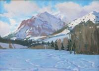 Boulder Peak / G. Russell Case / 12.00x16.00 / $3200.00/ Sold