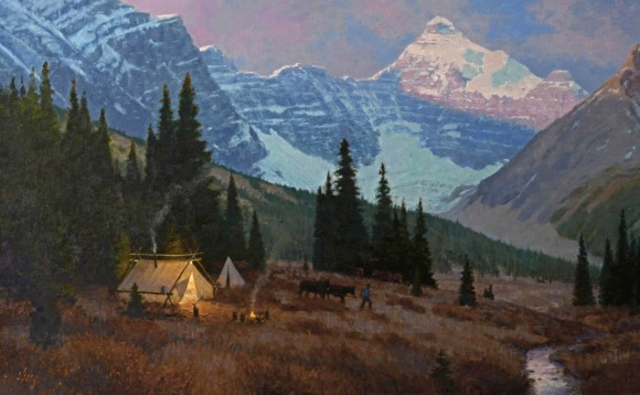 A Camp in the Rockies / Ralph Oberg / 30.00x48.00 / $22000.00