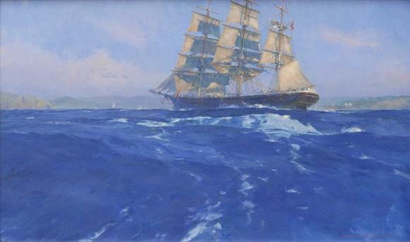 Benjamin Packard Approaching the California Coast / Christopher Blossom / 18.00x30.00 / $26000.00