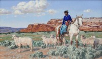 Sheep May Safely Graze / Terri Kelly Moyers / 24.00x40.00 / $32000.00/ Sold