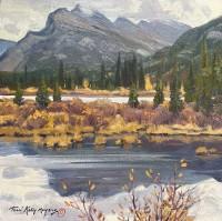 Autumn - Mt. Rundle / Terri Kelly Moyers / 12.00x12.00 / $3500.00/ Sold