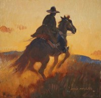 Ten Miles Ahead of the Law / John Moyers / 12.00x12.00 / $5500.00/ Sold