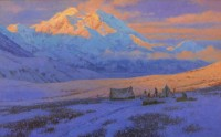 Obsessive Integrity - Belmore Brown Approaching Mt. McKinley, April 1912 / Ralph Oberg / 30.00x48.00 / $19000.00/ Sold
