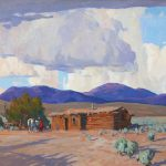 Cabin and Clouds by Russell Case, 16 h. X 20 w. $6,000.00